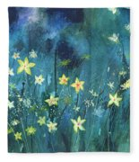 Flowers N Breeze Fleece Blanket
