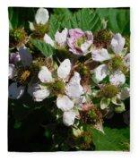 Flowers Of Berries Fleece Blanket