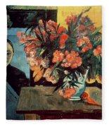 Flowers Of France Fleece Blanket