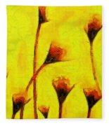 Flowers Of Love  - Van Gogh -  - Pa Fleece Blanket