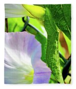 Flowers On The Fence Fleece Blanket