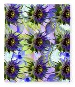 Flowers On The Wall Fleece Blanket