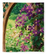 Flowers On Vine  Fleece Blanket