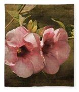Flowers - Purple Allamanda 2 Fleece Blanket