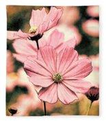 Flowers - Retro Cosmos Fleece Blanket
