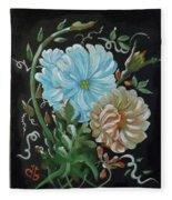Flowers Surreal Fleece Blanket
