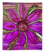 Flowerscape Dahlia Fleece Blanket