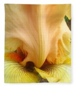 Flowerscape Yellow Iris One Fleece Blanket