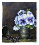 Flowers,pansies Still Life Fleece Blanket