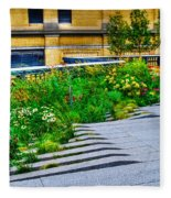 Flowery Garden On The High Line Fleece Blanket