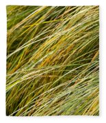 Flowing Green Grass  Abstract Fleece Blanket