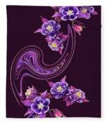 Flowing Purple Velvet 2 Fleece Blanket