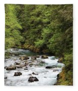 Flowing Through The Trees Fleece Blanket