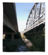 Flowing Under The Bridges Fleece Blanket