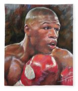 Floyd Mayweather Jr Fleece Blanket