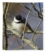 Fluffy Chickadee Fleece Blanket