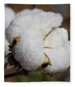 Fluffy White Alabama Cotton Fleece Blanket