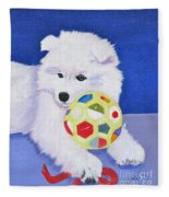 Fluffy's Portrait Fleece Blanket