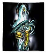 Fluidity Abstract Fleece Blanket