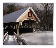 Flume Covered Bridge - Lincoln New Hampshire Usa Fleece Blanket