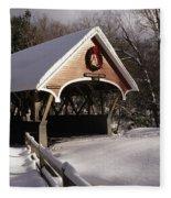 Flume Covered Bridge - Lincoln New Hampshire Usa Fleece Blanket