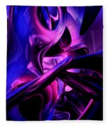 Fluorescent Passions Abstract Fleece Blanket