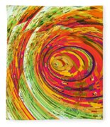 Fluorescent Wormhole Fleece Blanket
