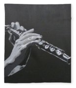 Flute Hands Fleece Blanket