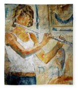 Flutist Fleece Blanket