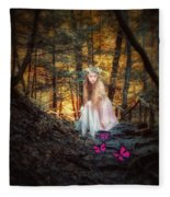 Flutterby Trail Fleece Blanket