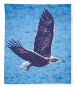 Fly By Eagle. 2 Of 3 Fleece Blanket