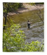 Fly Fishing Fleece Blanket