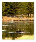 Fly Fishing On The Madison Fleece Blanket