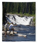 Fly Fishing The Lewis River Fleece Blanket