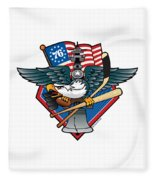 Fly. Philly, Fly, Crest Fleece Blanket
