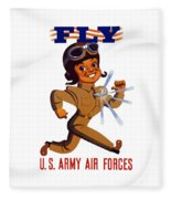 Fly - Us Army Air Forces Fleece Blanket