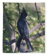 Silky Flycatcher Fleece Blanket