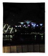Flyer Night View Fleece Blanket