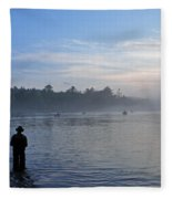 Flyfishing In Maine Fleece Blanket