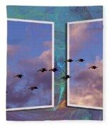Flying Across Fleece Blanket