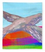 Flying Bird II Fleece Blanket