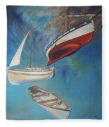 Flying Boats Fleece Blanket