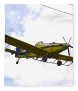 Flying By Wire 3 Of 6 Fleece Blanket