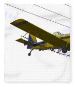 Flying By Wire 4 Of 6 Fleece Blanket