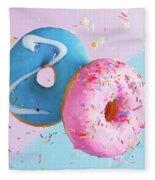 Doughnuts Treat Fleece Blanket