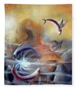 Flying Fishes Fleece Blanket