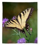 Flying Flowers Fleece Blanket