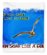 Flying Gull Fleece Blanket
