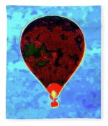 Flying High - Hot Air Balloon Fleece Blanket