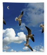 Flying High In The Clouds Fleece Blanket